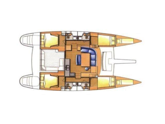 Lagoon 440 (Wayra) Plan image - 2