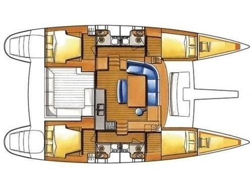 Lagoon 400 S2 (Myrto) Plan image - 9