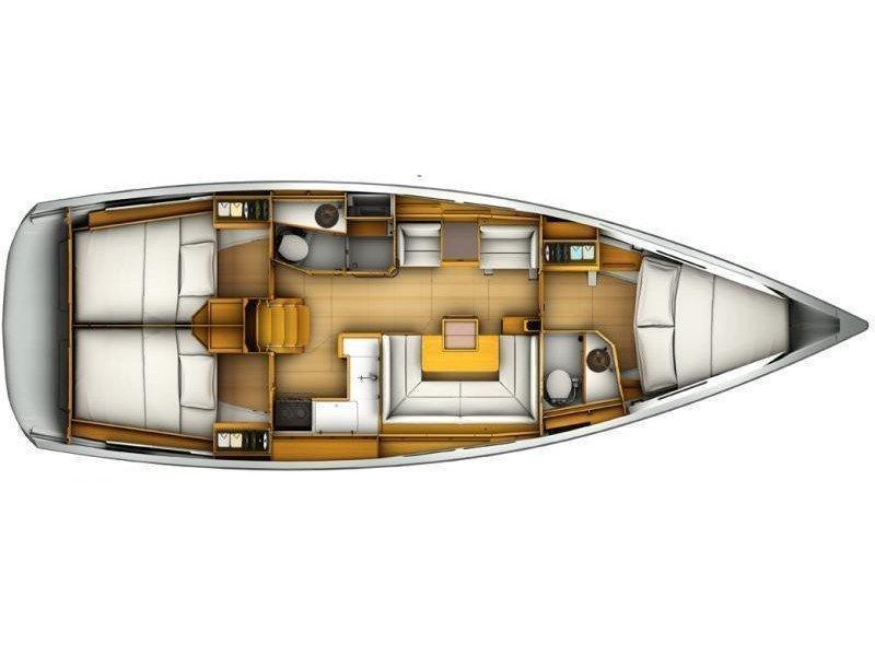 Sun Odyssey 419 (Rachel) Plan image - 2