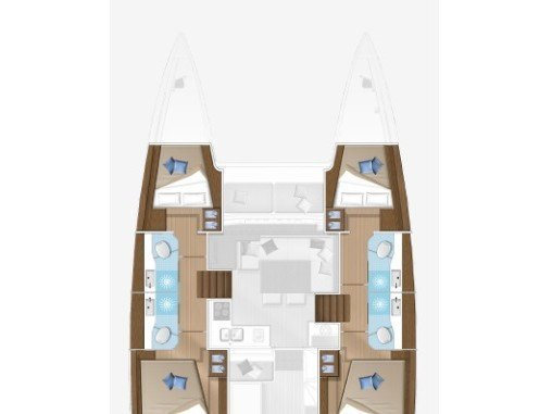 Lagoon 40 (MIGNONNE feat. A/C and Generator) Plan image - 2