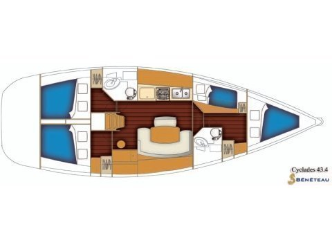 CYCLADES 43.4 BT (LEVANT) Plan image - 12