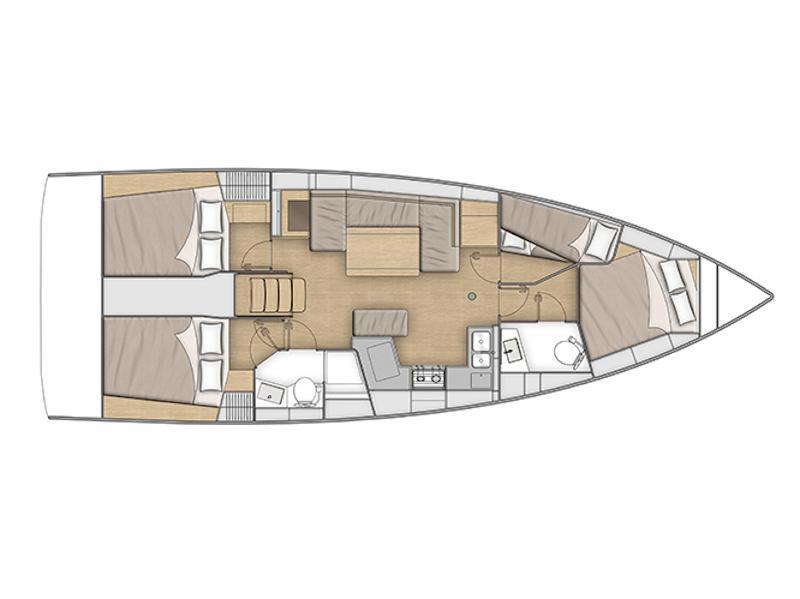 Oceanis 40.1 (Poseidon) Plan image - 5