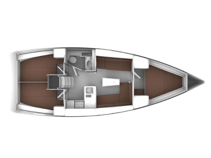 Bavaria Cruiser 37 (Emerald) Plan image - 1