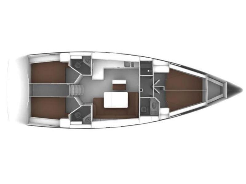 Bavaria Cruiser 46  (Mondo) Plan image - 1