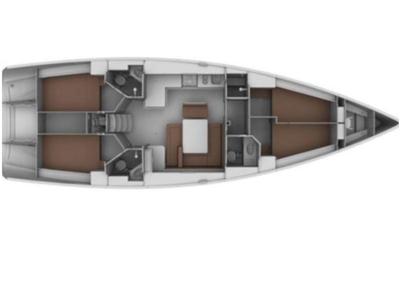 Bavaria Cruiser 45 (Lunga) Plan image - 1