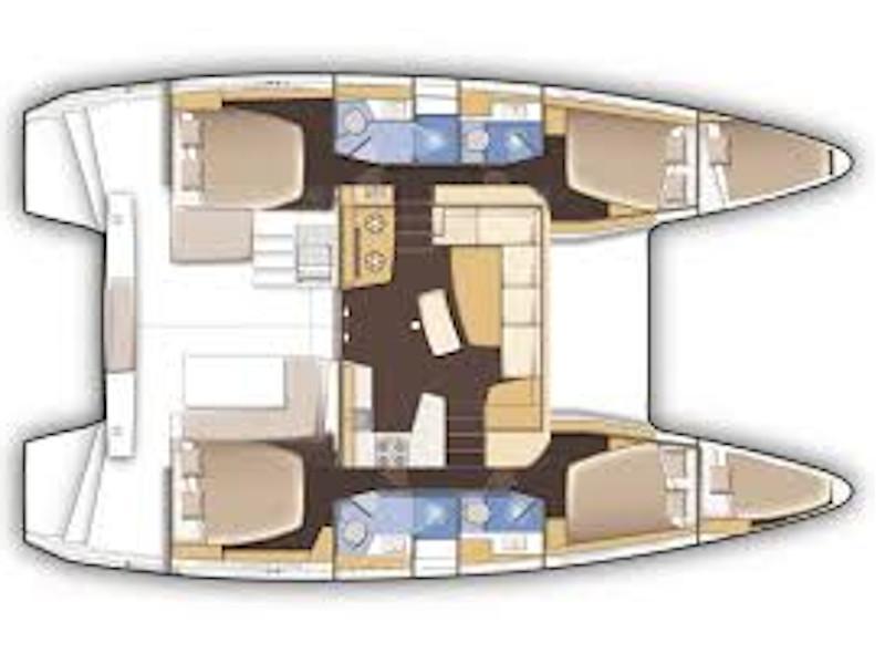Lagoon 42 (Barchetta II) Plan image - 6