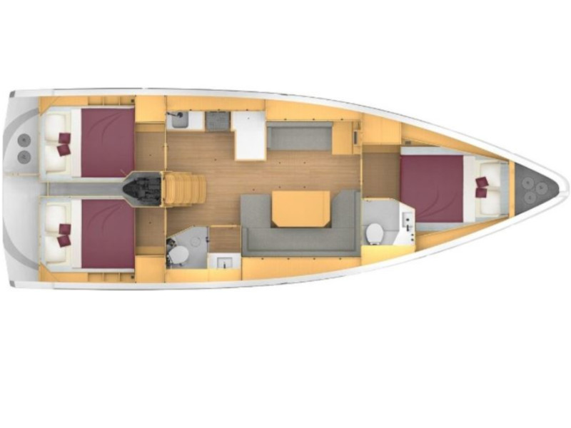 Bavaria 42 C (Seaduction) Plan image - 12
