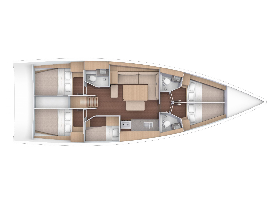 Dufour 470 (EUPORIE) Plan image - 3