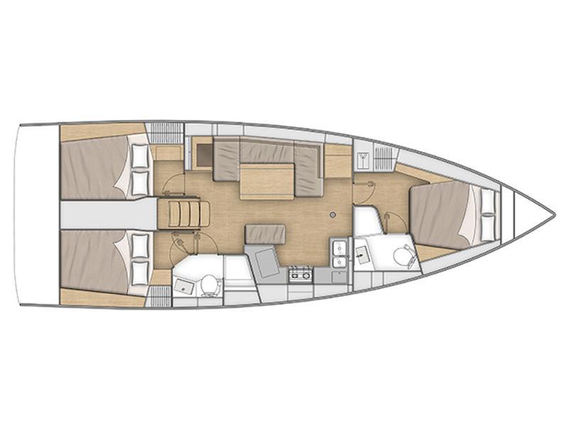 Oceanis 40.1 (FERRARI (air condition)) Plan image - 1