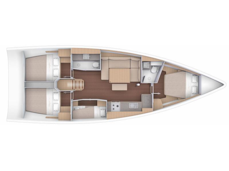 Dufour 430 (Victoria) Plan image - 6