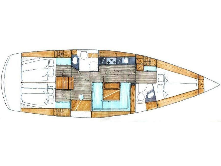 Bavaria 43 Cruiser (B43-09-P) Plan image - 1