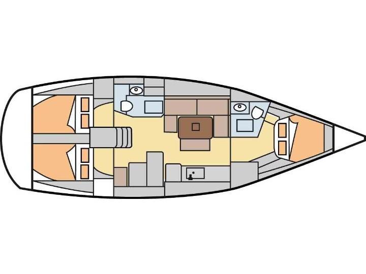 Dufour 405 Grand Large (Daphne) Plan image - 1