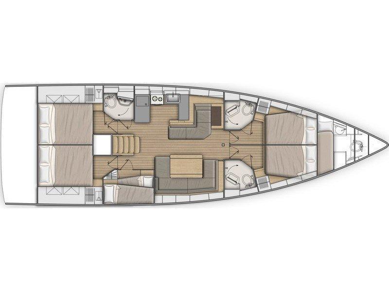 Oceanis 51.1 (Kalidna) Plan image - 1