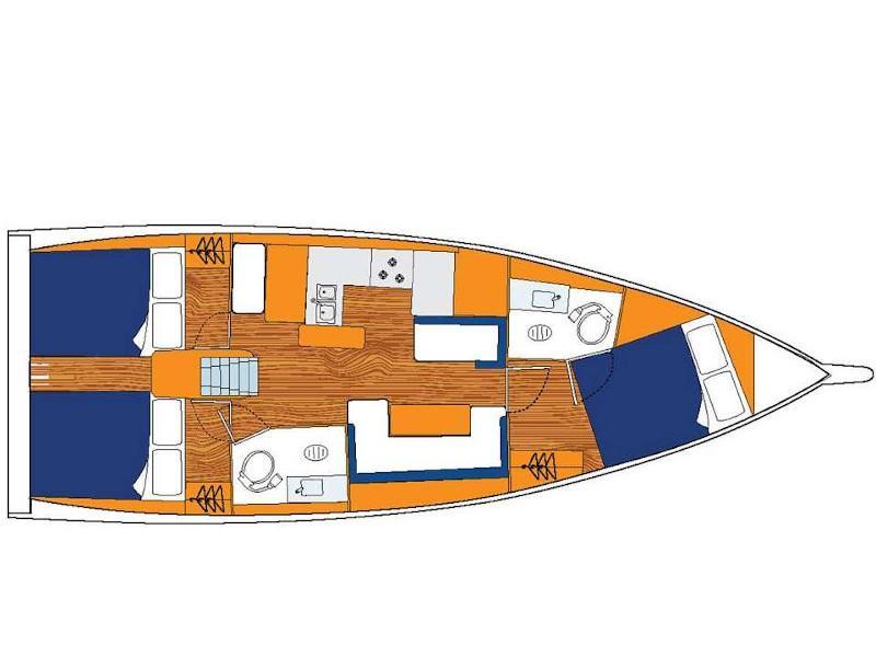Sun Odyssey 410 () Plan image - 2