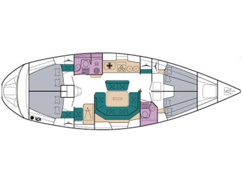 Bavaria 46H (Aenao) Plan image - 4