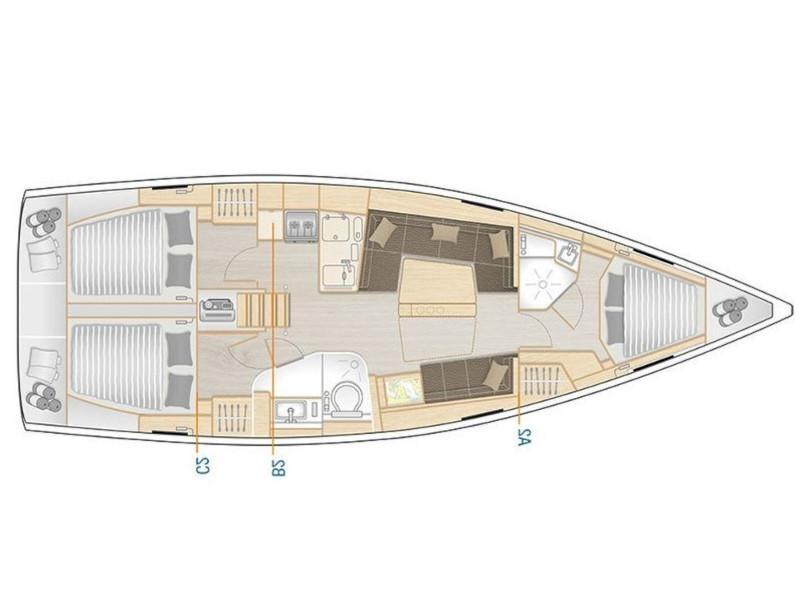 Hanse 418 (Polynoe) Plan image - 1