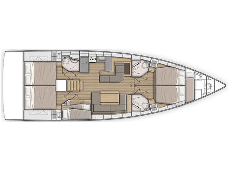 Oceanis 51.1 (Freyja) Plan image - 5