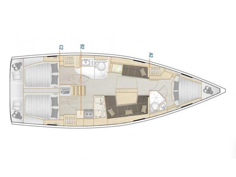 Hanse 418 (4Fun) Plan image - 5