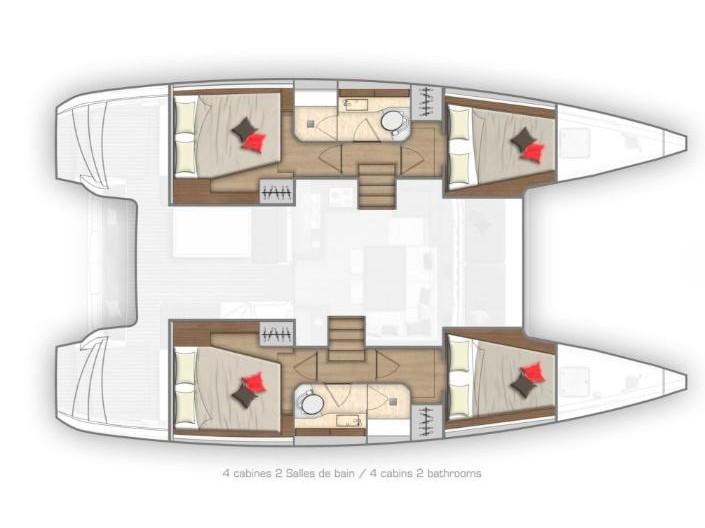 Lagoon 40 (Eskimo ) Plan image - 12