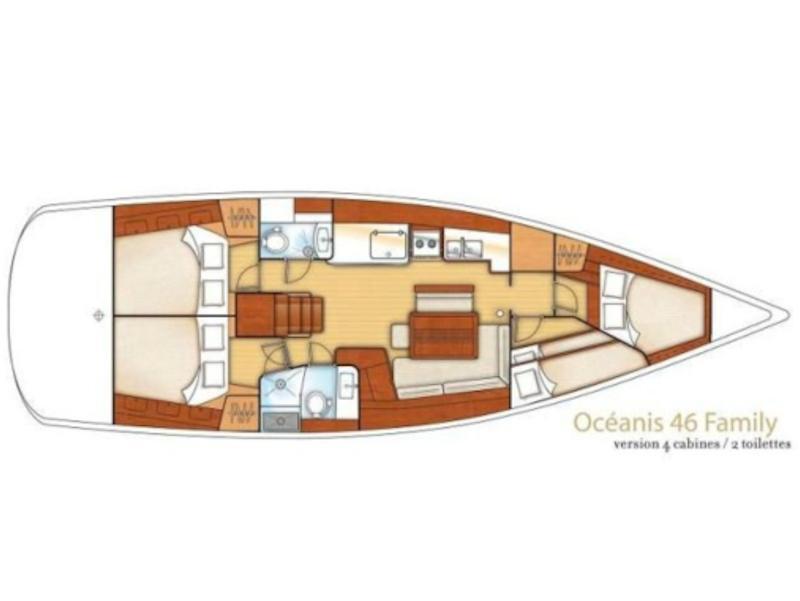 Oceanis 46 (AEGEAS) Plan image - 1