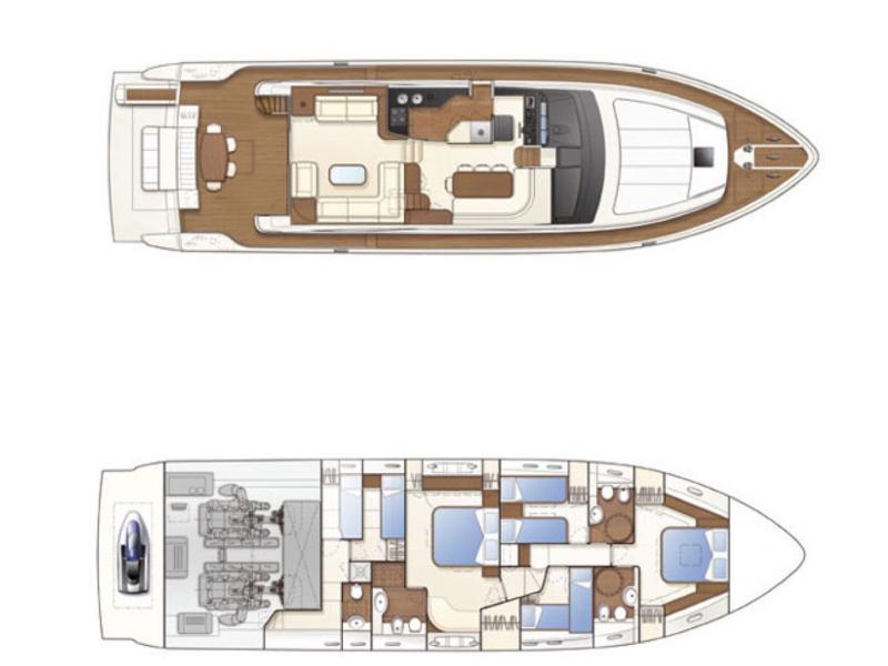 Ferretti 681 (DOMINIQUE) Plan image - 50