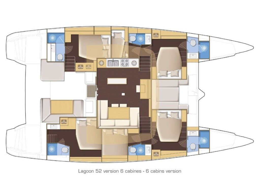 Lagoon 52 (Blue Velvet) Plan image - 39