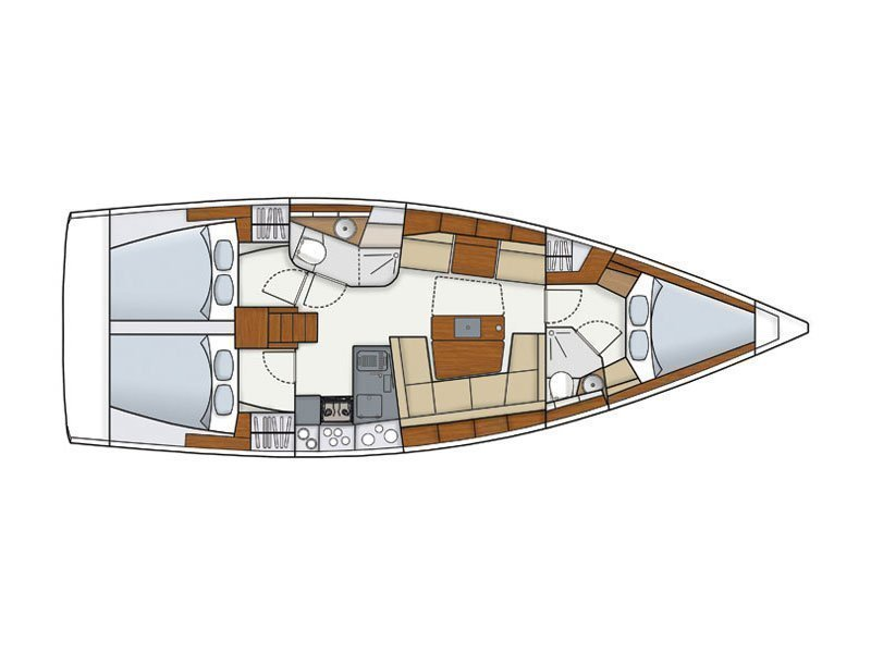 Hanse 415 (Marina Spirit Two) Plan image - 9