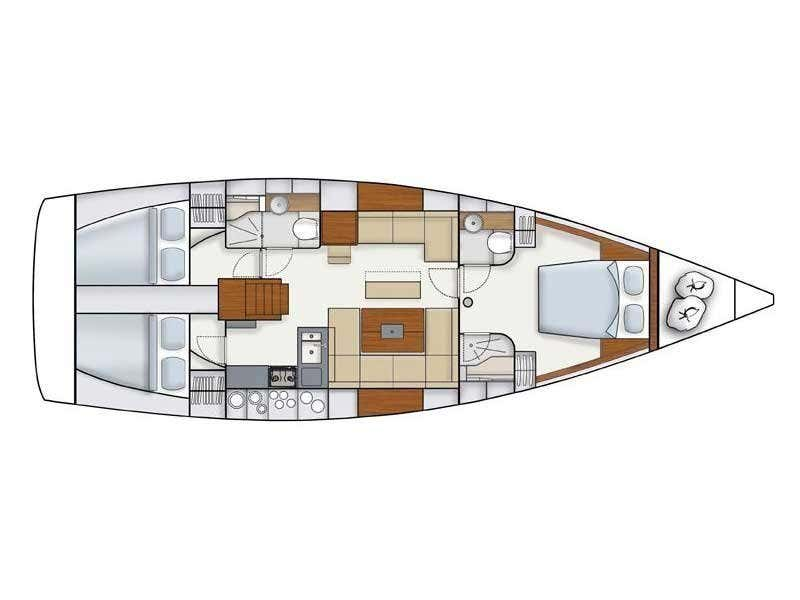 Hanse 445 (Hanse 445) Plan image - 1