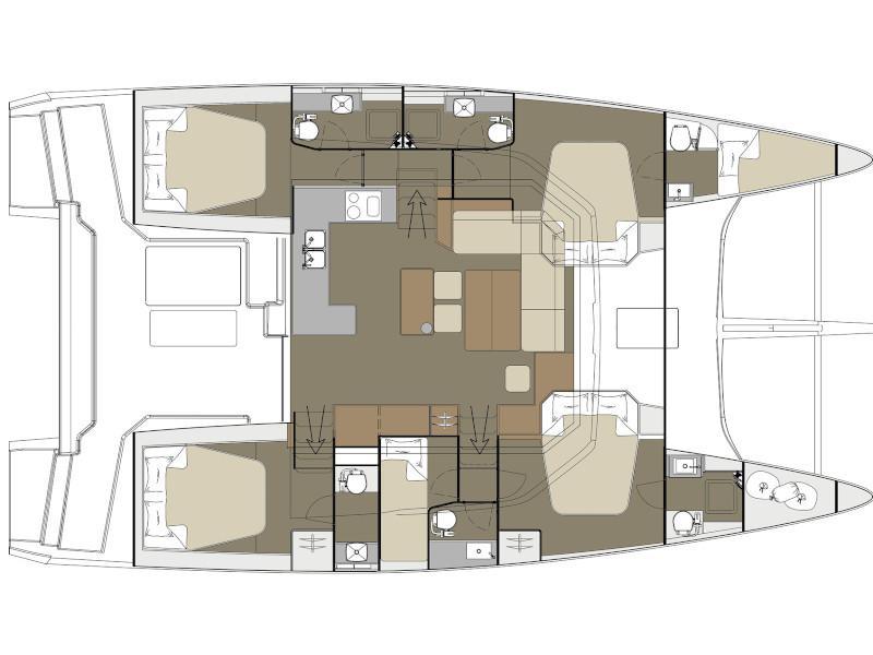 Dufour Catamaran 48 (Paradise Planet) Plan image - 2