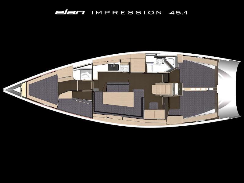 Elan Impression 45.1 (Ariadne) Plan image - 1