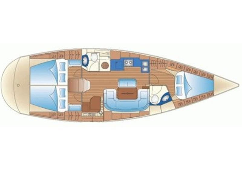Bavaria 42 Cruiser (Panta Rei) Plan image - 2