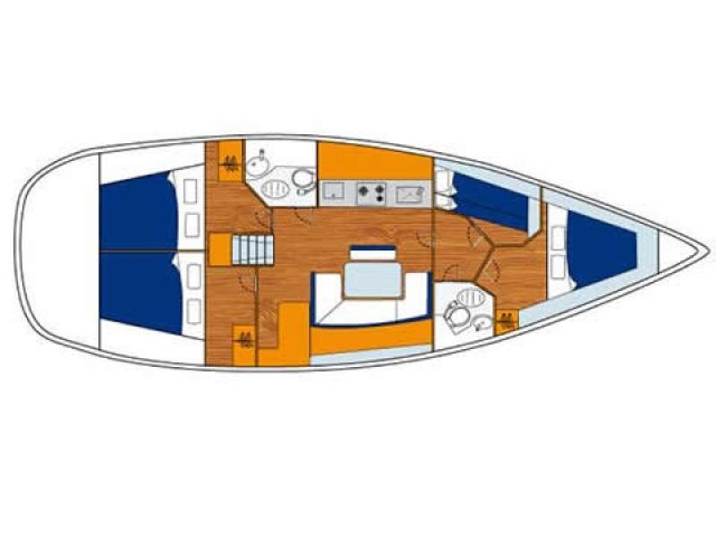 Cyclades 43.4 (TINA) Plan image - 4