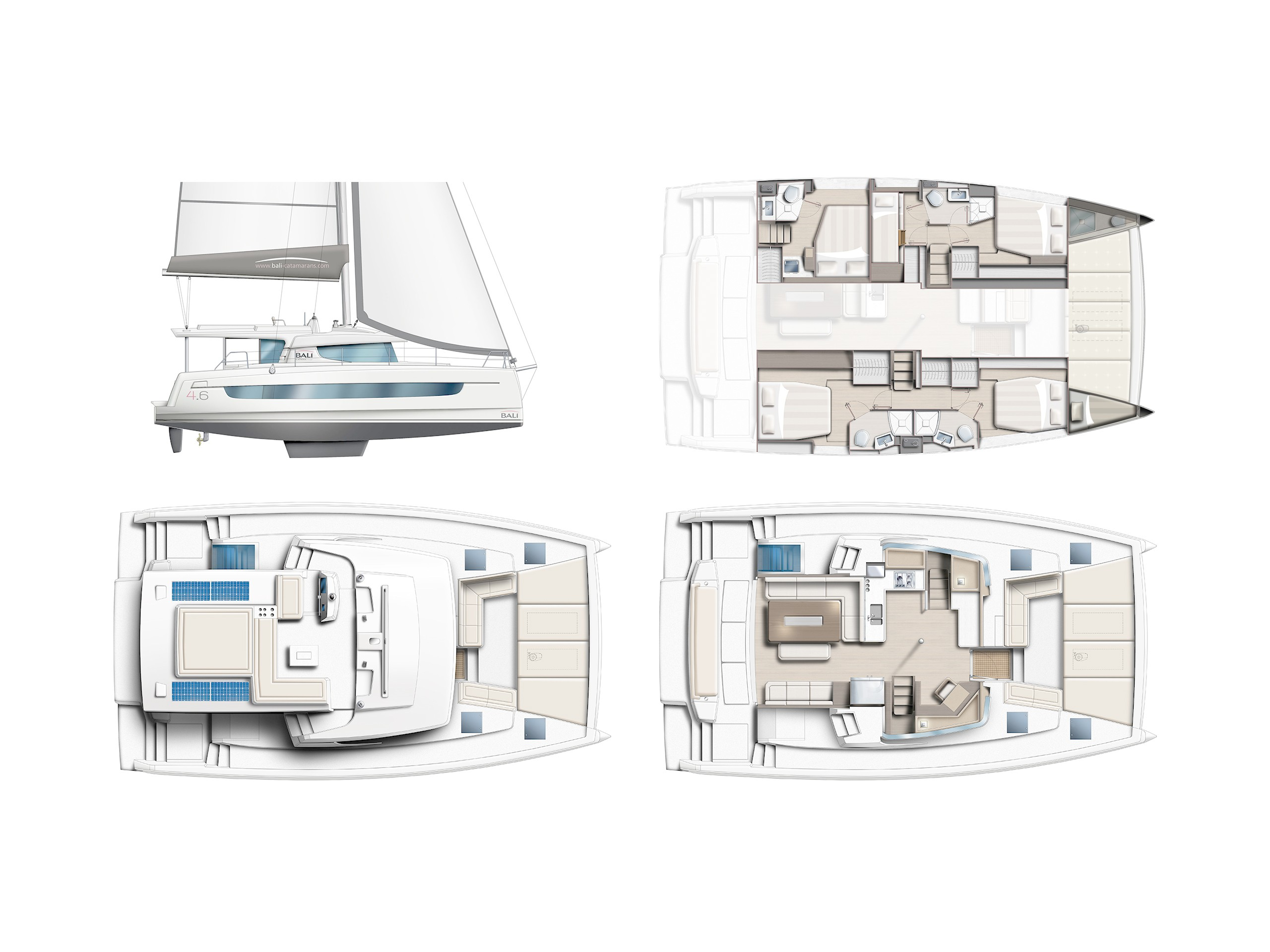 Lagoon 450  Flybridge (Freedom) Plan image - 2