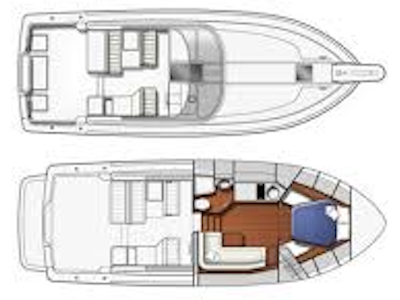 Pershing 33 (Napar - Available for daily charter only - 0 night) Plan image - 1