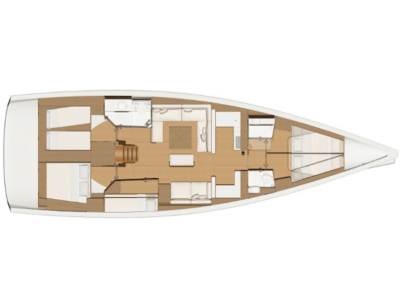 Dufour 520 Grand Large (Sunshine Planet) Plan image - 1