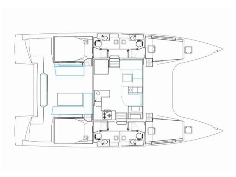 Nautitech 46 Fly (Harmony Planet) Plan image - 1