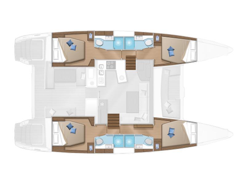 Lagoon 450  Flybridge  (ZACAPA (generator, air condition, water maker)) Plan image - 4