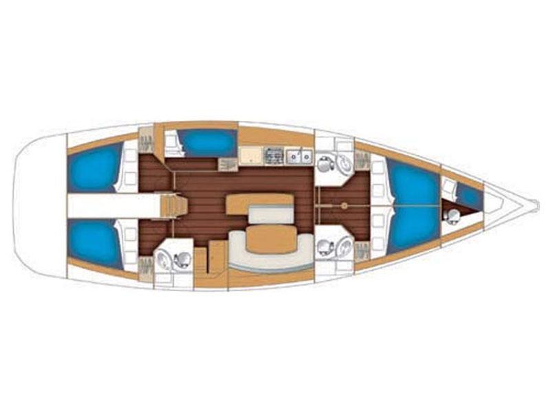 Oceanis 50 Family (Isabella) Plan image - 2