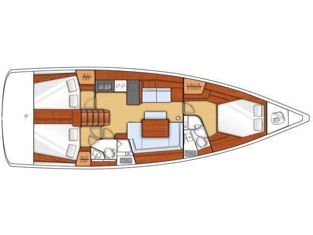 Oceanis 45 (3 cbs) (O45-3C-13) Plan image - 2
