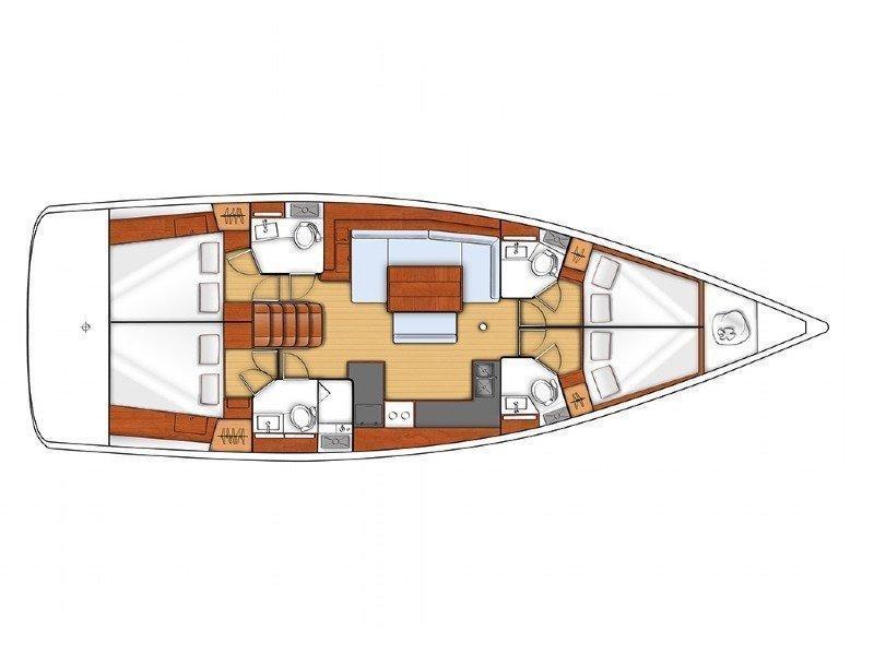 Oceanis 48 LR (LUNA ROSSA) Plan image - 1