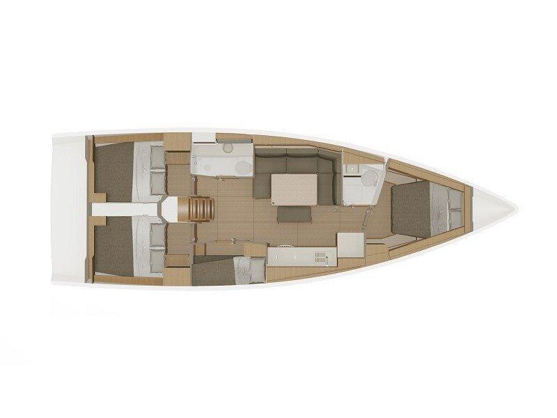 Dufour 430 Grand Large (Manora) Plan image - 1