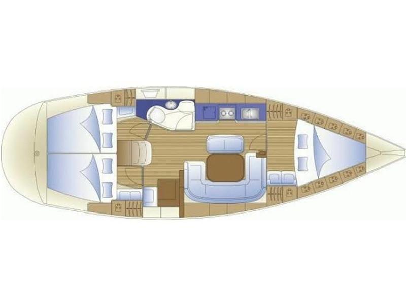 Bavaria 38 Cruiser (Mavi Ada) Plan image - 10