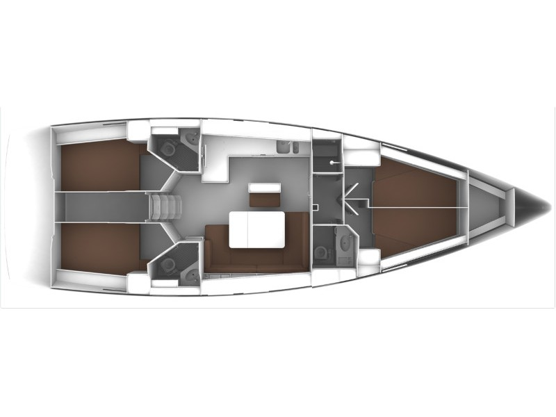 Bavaria 46 Cruiser (Grey Sky) Plan image - 10