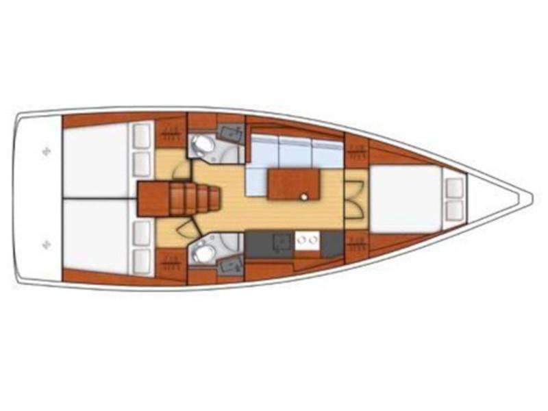 Oceanis 381 (Dollie) Plan image - 2