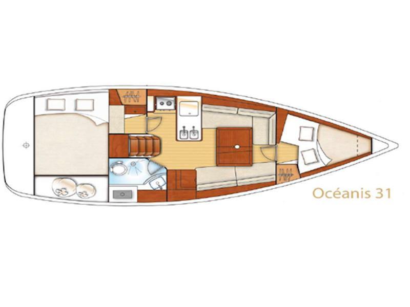 Oceanis 31 (Chiara II) Plan image - 1