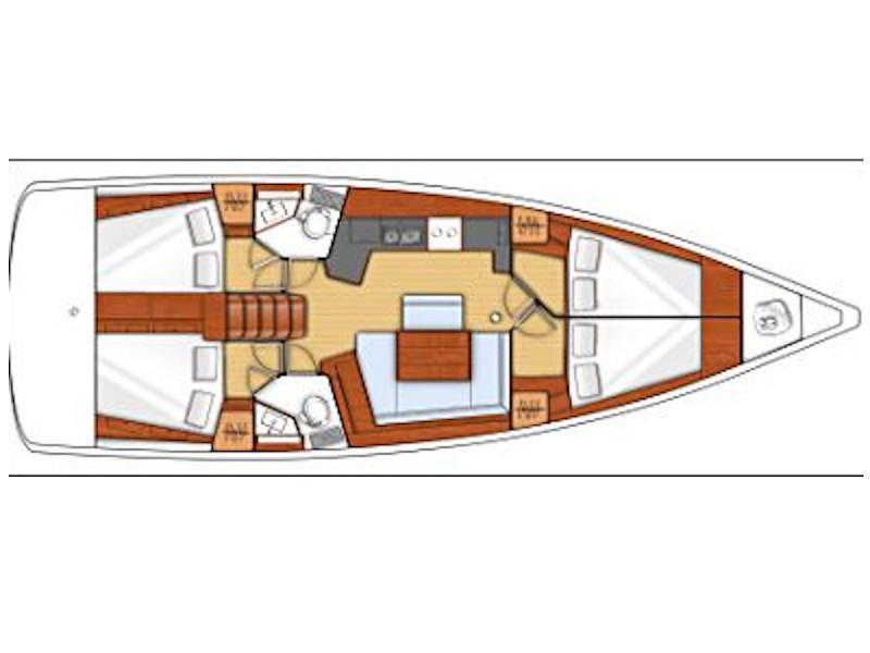 Oceanis 45 (Filomenae) Plan image - 1