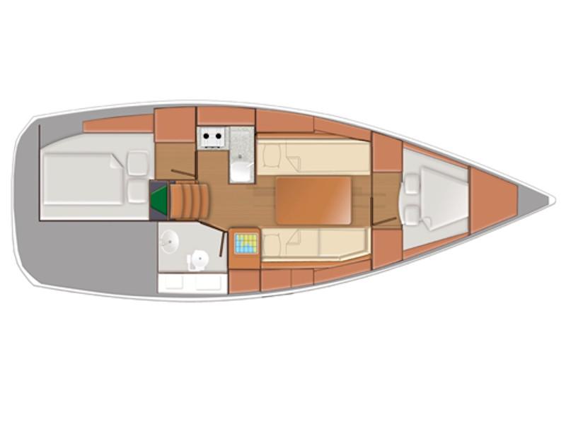 Sun Odyssey 319 (Pupatella) Plan image - 2