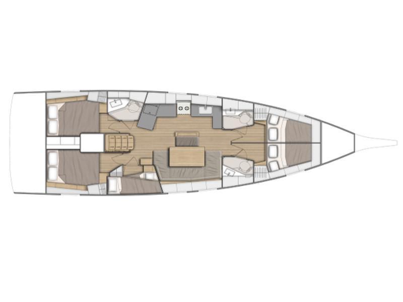Oceanis 46.1 (Namaka) Plan image - 2