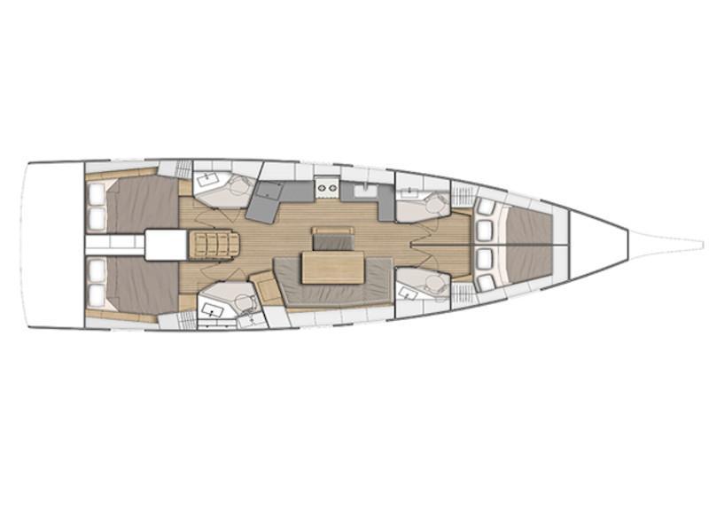 Oceanis 46.1 (Elisa) Plan image - 2