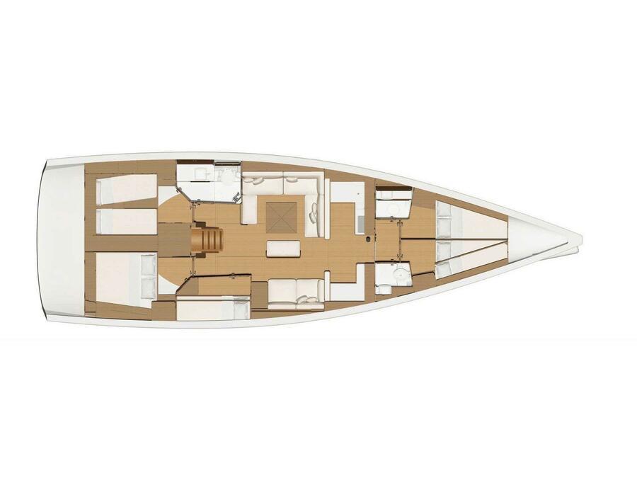 Dufour 520 GL (Stella - Water maker, Solar Panel) Plan image - 1